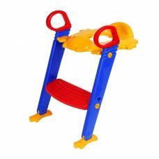 Детское сиденье на унитаз со ступенькой «Помощник малыша», с ручками, цветное Sima-Land