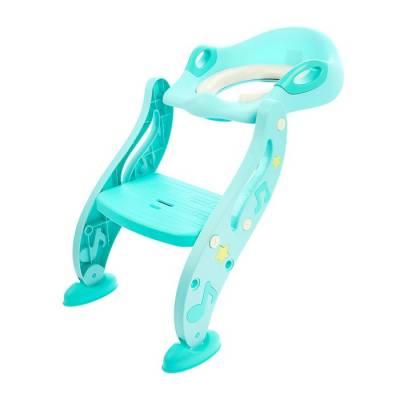 Сиденье для унитаза детское, мягкое, со ступенькой, цвет бирюзовый Sima-Land