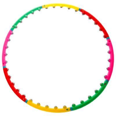Обруч с малыми магнитными роликами, d=98 см, толщина 2 см, 800 г ONLITOP