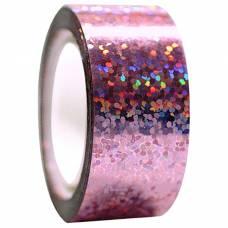 Обмотка для гимнастических булав и обручей Diamond розовая металл. клейкая Stor