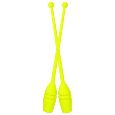 Булавы гимнастические 43 см, 270 гр (пара), цвет желтый Ace