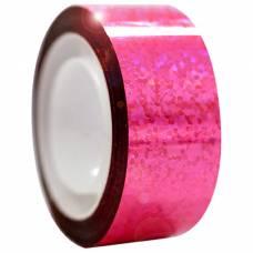 Обмотка Diamond флюо-розовая металлическая клейкая лента Stor