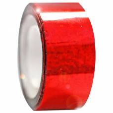 Обмотка для гимнастических булав и обручей Diamond красная металл. клейкая Stor