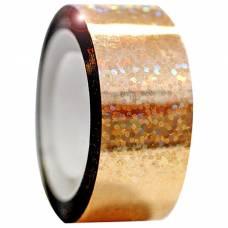 Обмотка для гимнастических булав и обручей Diamond золотая металл. клейкая Stor