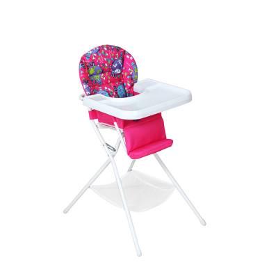 Детский стульчик для кормления, бело-розовый Дэми