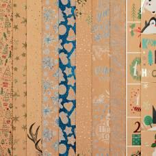 Набор бумаги для скрапбукинга «Подарок от Деда мороза», 10 листов, 30.5 × 30.5 см Арт Узор