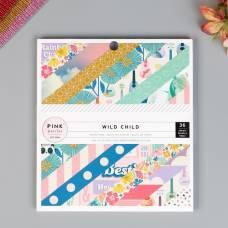 Набор бумаги для скрапбукинга Pink Paislee, коллекция «WILD CHILD. GIRL» 15.2х15.2 см Pink Paislee
