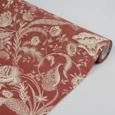 Бумага упаковочная крафт, бордово-кремовый, 0,5 х 10 м LORI