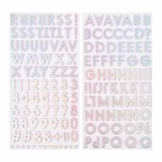 Стикеры-алфавит - Коллекция SUMMER LIGHTS (158 шт) Pink Paislee Pink Paislee