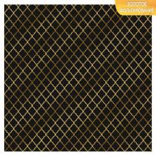 Бумага для скрапбукинга с фольгированием «Вензеля», 10 листов, 30.5 × 30.5 см, 250 г/м Арт Узор