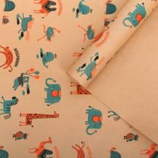 Бумага крафтовая бурая в рулоне «Поздравляю», 0.68 × 8 м Sima-Land