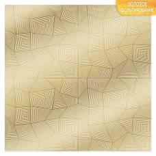 Бумага для скрапбукинга с фольгированием «Узор», 10 листов, 30.5 × 30.5 см, 250 г/м Арт Узор