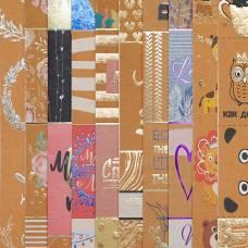 Набор бумаги для скрапбукинга «Крафтовые карточки», 10 листов, 30 × 30 см Арт Узор