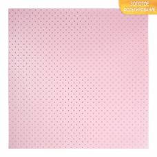 Бумага для скрапбукинга с фольгированием «Горох», 10 листов, 30.5 × 30.5 см, 250 г/м Арт Узор