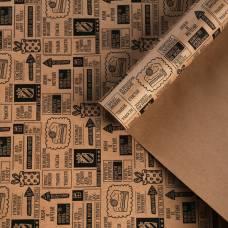 Бумага крафтовая бурая в рулоне «Счастливых мгновений», 0.68 × 8 м Sima-Land
