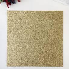 Глиттерный кардсток American Crafts  «Gold» - 30.5х30.5 см American Crafts