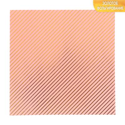 Бумага для скрапбукинга с фольгированием «Одно мгновение», 10 листов, 15.5 × 15.5 см, 250 г/м Арт Узор