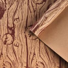 Бумага крафтовая бурая в рулоне «Только тебе», 0.68 × 8 м Sima-Land