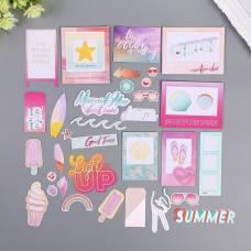 Набор высечек с золотым фольгированием Pink Paislee, «SUMMER LIGHTS» 40 шт Pink Paislee