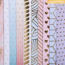 Бумага для скрапбукинга с фольгированием «Мгновение»15.5 × 15.5 см, 180 г/м Арт Узор