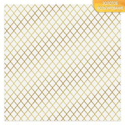 Бумага для скрапбукинга с фольгированием «Восток», 10 листов, 30.5 × 30.5 см, 250 г/м Арт Узор