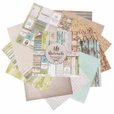 Набор бумаги для скрапбукинга Naturals, 12 листов, 30,5 х 30,5 см, 180 г/м Арт Узор
