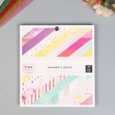 Набор бумаги для скрапбукинга Pink Paislee, коллекция «SUMMER LIGHTS» 15х15 см 36 шт Pink Paislee