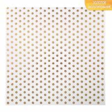 Бумага для скрапбукинга с фольгированием «Крупный горох», 10 листов, 30.5 × 30.5 см, 250 г/м Арт Узор