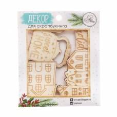 Деревянные высечки для скрапбукинга Sweet home, 9 × 10,5 см Арт Узор