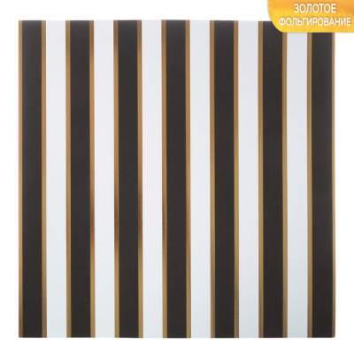 Бумага для скрапбукинга с фольгированием «Тёмные полосы», 10 листов, 30.5 × 30.5 см, 250 г/м Арт Узор