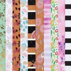 Набор бумаги для скрапбукинга «Цветочное поле», 10 листов, 20 × 20 см Арт Узор