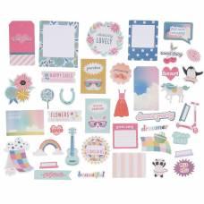 Набор высечек Pink Paislee « WILD CHILD. GIRL» - 40 шт. Pink Paislee