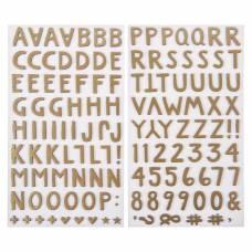 Стикеры-алфавит из фоамирана  «CREEKSIDE» 1canoe2 (133 шт) 1canoe2