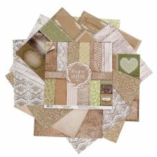 Набор бумаги для скрапбукинга RusticWedding, 12 листов 30,5 × 30,5 см, 180 г/м Арт Узор
