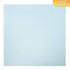 Бумага для скрапбукинга с фольгированием «Горошек», 10 листов, 30.5 × 30.5 см, 250 г/м Арт Узор