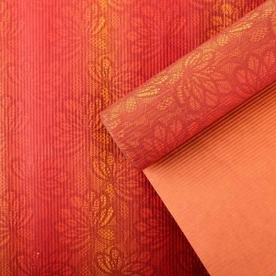 Бумага упаковочная крафт, оранжево-красный, 0,5 х 10 м LORI