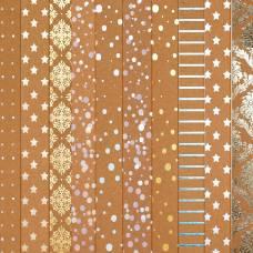 Набор бумаги для скрапбукинга «Крафтовый баховый», 10 листов, 30 × 30 см Арт Узор