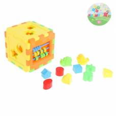 Развивающая игрушка-сортер «Куб» со счётами Sima-Land