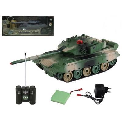 Танк на ИК-управлении (на аккум., звук, свет), зелено-бежевый, 1:32 Yako Toys