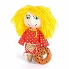 Набор для изготовления игрушки из льна и хлопка с волосами из пряжи