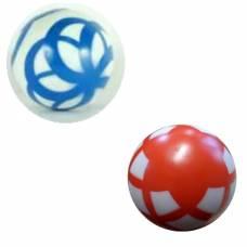 Резиновый лакированный мяч с узором, 12.5 см Чебоксарский Завод