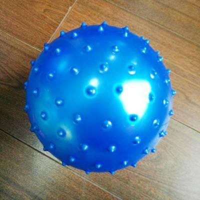 Массажный мяч, синий, 13 см