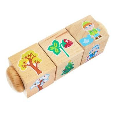 Кубики деревянные на оси