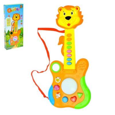 Музыкальная игрушка гитара «Львёнок», световые и звуковые эффекты Sima-Land