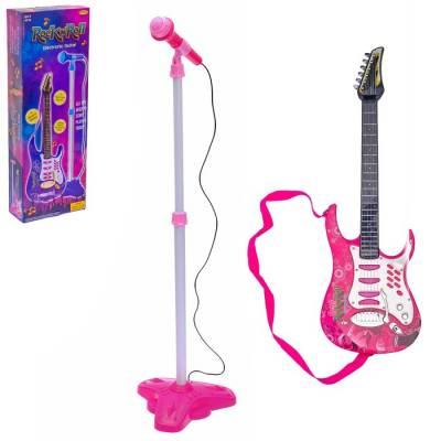 Музыкальная игрушка гитара «Рок-Н-Ролл» с микрофоном, звуковые эффекты Sima-Land