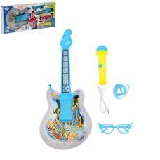 Музыкальная игрушка гитара «Звезда» с микрофоном и очками, световые и звуковые эффекты Sima-Land