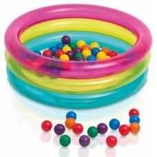 Надувной бассейн с шариками Baby Ball Pit, 86 х 25 см Intex