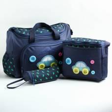 Набор сумок для вещей малыша, 2 шт., с ковриком для пеленания и чехлом для бутылочки, цвет синий Sima-Land