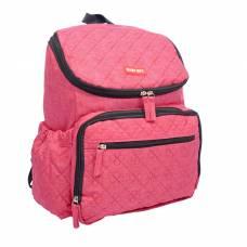Рюкзак женский, для мамы и малыша, с ковриком для пеленания, цвет бордовый Sima-Land