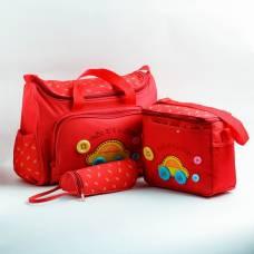 Набор сумок для вещей малыша, 2 шт., с ковриком для пеленания и чехлом для бутылочки, цвет красный Sima-Land